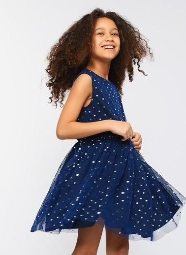 Morhipo Kids Puantiye Baskılı Elbise İndigo